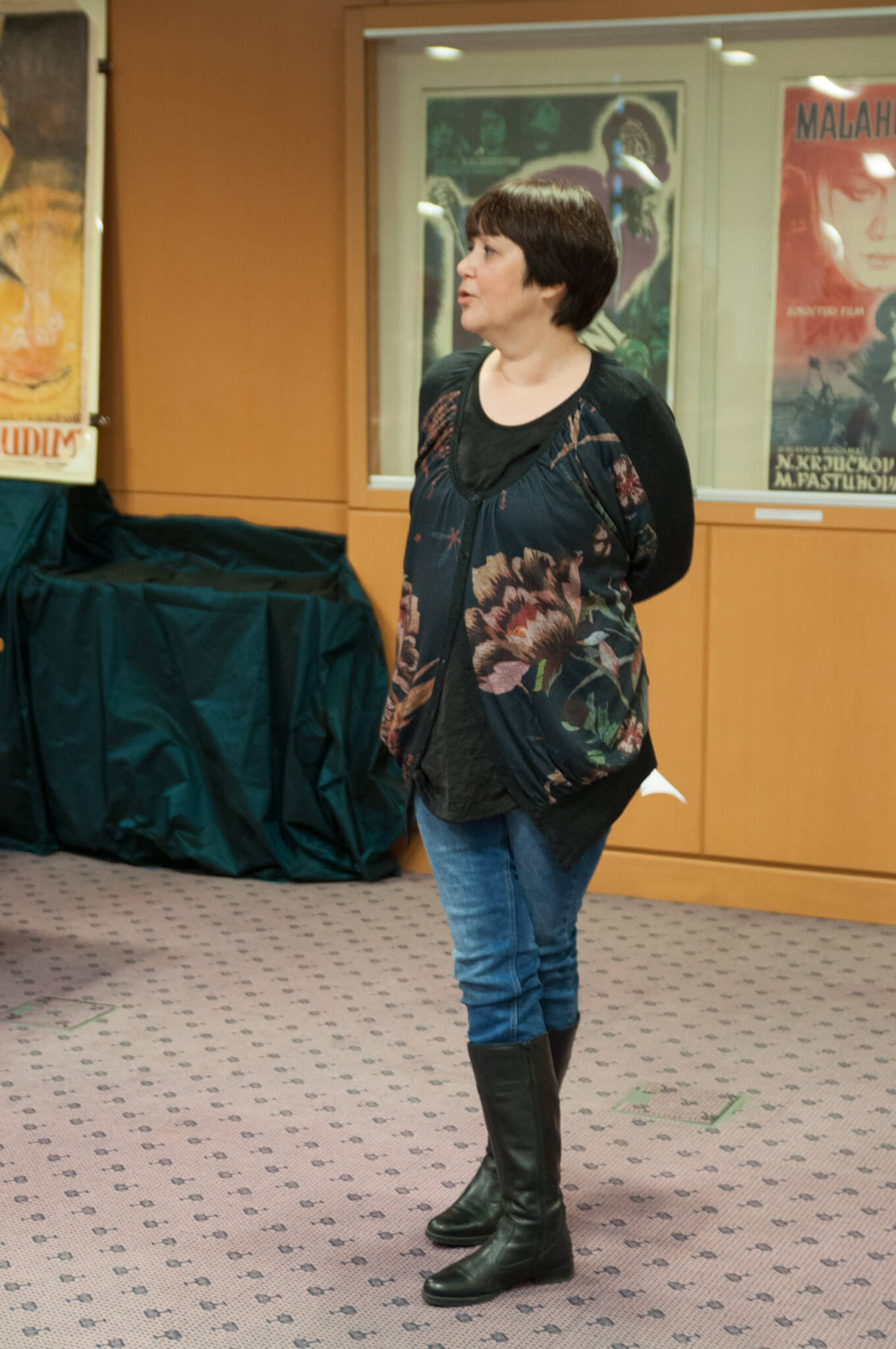 Autorica izložbe Charlotte Maria Frank, a ujedno i djelatnica Grafičke Zbirke NSK.