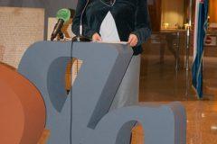 "Glavna ravnateljica Nacionalne i sveučilišne knjižnice u Zagrebu dr. sc. Tatijana Petrić na otvorenju izložbe ""Hrvatska glagoljica""."