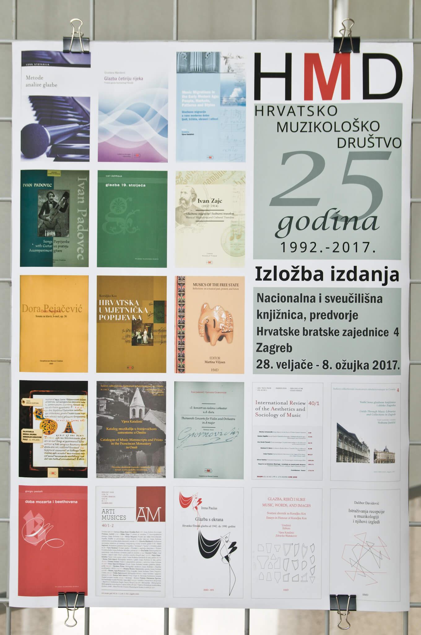 Otvorena izložba izdanja Hrvatskog muzikološkog društva u povodu 25 godina djelovanja.