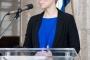 """Ivana Skočić, ravnateljica Memorijalnoga centra Faust Vrančić na otvorenju izložbe """"Machinae novae – 400 godina poslije""""."""