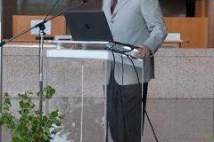 """Izložbu """"Najbolje zelene knjižnice"""" svečano je otvorio akademik Velimir Neidhardt, predsjednik Hrvatske akademije znanosti i umjetnosti."""