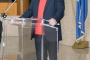 Božidar Petrač, predsjednik Društva hrvatskih književnika, na otvorenju izložbe NSK u povodu 200. obljetnice rođenja Ivana Kukuljevića Sakcinskoga.