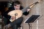 "Glazbenik Edin Karamazov na otvorenju izložbe ""Renesansni Faustus Verantius""."