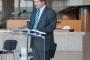 Državni tajnik u Ministarstvu znanosti i obrazovanja Republike Hrvatske mr. sc Hrvoje Šlezak na otvorenju izložbe o holokaustu Roma.