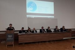"""Participants in the """"Centennial of the end of World War One: from the first global conflict to dialogue and reconciliation"""" commemorative conference. Faculty of Humanities and Social Sciences, University of Zagreb, 8 November 2018."""