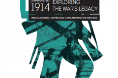 """The front page of the brochure of the """"Commemorating 1914: Exploring the War's Legacy"""" international symposium, organised in 2014 by the EU National Institutes for Culture (EUNIC) Croatia and hosted by the Croatian State Archives."""