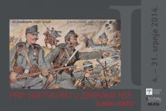 """""""World War One in the NSK Collections: In Images and Words"""". The poster of the 2014 NSK exhibition commemorating the centenary of World War One."""