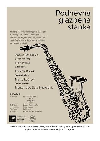 Podnevna glazbena stanka u Nacionalnoj i sveučilišnoj knjižnici u Zagrebu