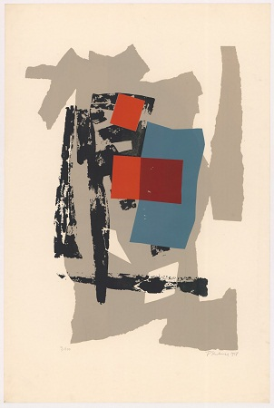 [Pijesak i ugljen] / F. [Ferdinand] Kulmer. - [Zagreb], 1958. -  1 grafika : serigrafija u bojama ; 900 x 596 mm. Grafička zbirka NSK.