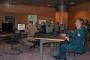 """Polaznicima XX. naraštaja Ratne škole """"Ban Josip Jelačić"""" tijekom posjeta Knjižnici u Elektroničkoj učionici održano je predavanje o izvorima znanstvenih informacija."""