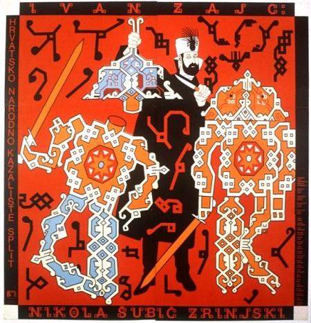 Plakat Borisa Bućana za operu Nikola Šubić Zrinski, Grafička zbirka NSK