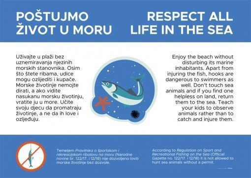 """""""Poštujmo život u moru"""" - kampanja za zaštitu Jadrana."""