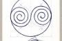 "Boris Demur (1951. – 2014.). ""Poema zastava spiralnog determinističkog kaosa u spiralnom yin yangu"". Izvor: http://www.avantgarde-museum.com/hr/museum/."