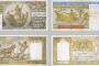 """Alžirske novčanice. Fotografije preuzete s panoa izložbe """"Antička baština na novčanicama mediteranskih zemalja""""."""