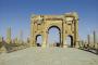 """Timgad, rimski kolonijalni grad na području današnjega Alžira. Fotografije preuzete s panoa izložbe """"Antička baština na novčanicama mediteranskih zemalja""""."""