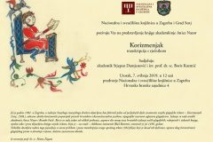 Predstavljanje transkripcije senjskoga Korizmenjaka iz 1508. godine u NSK.