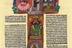 "Motiv iz promidžbene grafičke mape ""Korizmenjak"" – ""Škrti sin"". Ilustratorica:  Vjera Reiser."