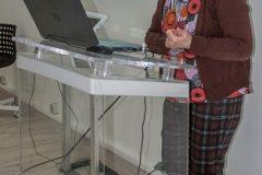Dr. sc. Mirna Willer na predstavljanju Pravilnika za opis i pristup građi u knjižnicama, arhivima i muzejima. Nacionalna i sveučilišna knjižnica u Zagrebu, 27. veljače 2020.