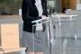 """Ravnateljica Sveučilišne knjižnice u Rijeci Senka Tomljanović na predstavljanju pretiska glagoljaške knjige """"Misal hruacki""""."""