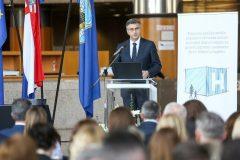 Predsjednik Vlade Republike Hrvatske Andrej Plenković na predstavljanju projekta izgradnje nacionalne dječje bolnice u Zagrebu.