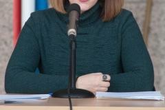 """Povjesničarka umjetnosti Iva Körbler na predstavljanju grafičke mape """"Vile od grafike – Hommage Marinu Držiću 1567. – 2017.""""."""