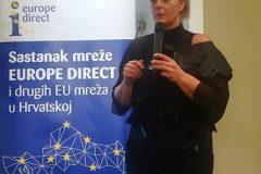 Predstavnica Republike Hrvatske u paneuropskoj radnoj grupi (PEWG) EDC mreže i voditeljica Europskoga dokumentacijskog centra Ekonomskoga fakulteta u Zagrebu Zrinka Udiljak-Bugarinovski predstavila je glavne zaključke prvoga sastanka radne grupe.