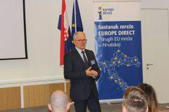 Voditelj Predstavništva Europske komisije u Hrvatskoj Branko Baričević  na godišnjem sastanku predstavnika Europe Direct informacijskih centara i drugih EU mreža u Hrvatskoj.