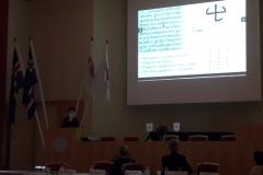 Savjetnica za međunarodnu suradnju NSK Jasenka Zajec na 32. sastanku Konferencije ravnatelja europskih nacionalnih knjižnica 2018. godine.