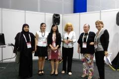 """Dr. sc. Ana Vukadin (druga slijeva) na uručenju nagrade """"IFLA Green Library Award"""" dodijeljene NSK u sklopu programa Svjetskoga knjižničarskog i informacijskoga kongresa Međunarodnoga saveza knjižničarskih društava i ustanova 2018."""