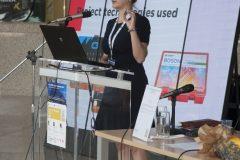Izlagačica Dragana Koljenik (Nacionalna i sveučilišna knjižnica u Zagrebu) na pretkonferenciji CPDWL u NSK 21. kolovoza 2019. godine.