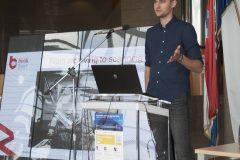 Izlagač Piotr Rydzek (Njemačka) na pretkonferenciji CPDWL u NSK 21. kolovoza 2019. godine.