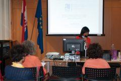 Izlagačica Lourdes Feria Basurto (Meksiko) na pretkonferenciji CPDWL u NSK 21. kolovoza 2019. godine.