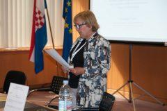 Moderatorica doc. dr. sc. Jadranka Stojanovski na pretkonferenciji CPDWL u NSK 21. kolovoza 2019. godine.