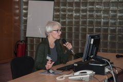 Rukovoditeljica Odjela Obrada NSK prof. Tanja Buzina na 3. otvorenoj konferenciji korisnika Integriranog knjižničnog sustava Nacionalne i sveučilišne knjižnice u Zagrebu te knjižnica iz sustava znanosti i visokog obrazovanja Republike Hrvatske.