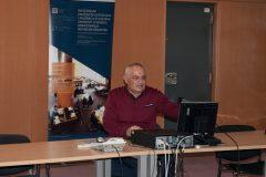 Jakob Sobota (Odjel IT NSK) na 3. otvorenoj konferenciji korisnika Integriranog knjižničnog sustava Nacionalne i sveučilišne knjižnice u Zagrebu te knjižnica iz sustava znanosti i visokog obrazovanja Republike Hrvatske.