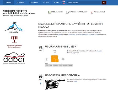 Nacionalni repozitorij završnih i diplomskih radova (ZIR).