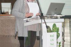 Dunja Marija Gabriel, knjižničarska savjetnica za narodne knjižnice u Hrvatskome zavodu za knjižničarstvo i predsjednica Sekcije i Komisije za narodne knjižnice HKD-a
