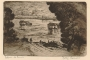 Vukovar, a view of the Danube. (Vukovar : Na Dunavu), a copperplate, 1930 – 1940. Print Collection of the National and University Library in Zagreb.