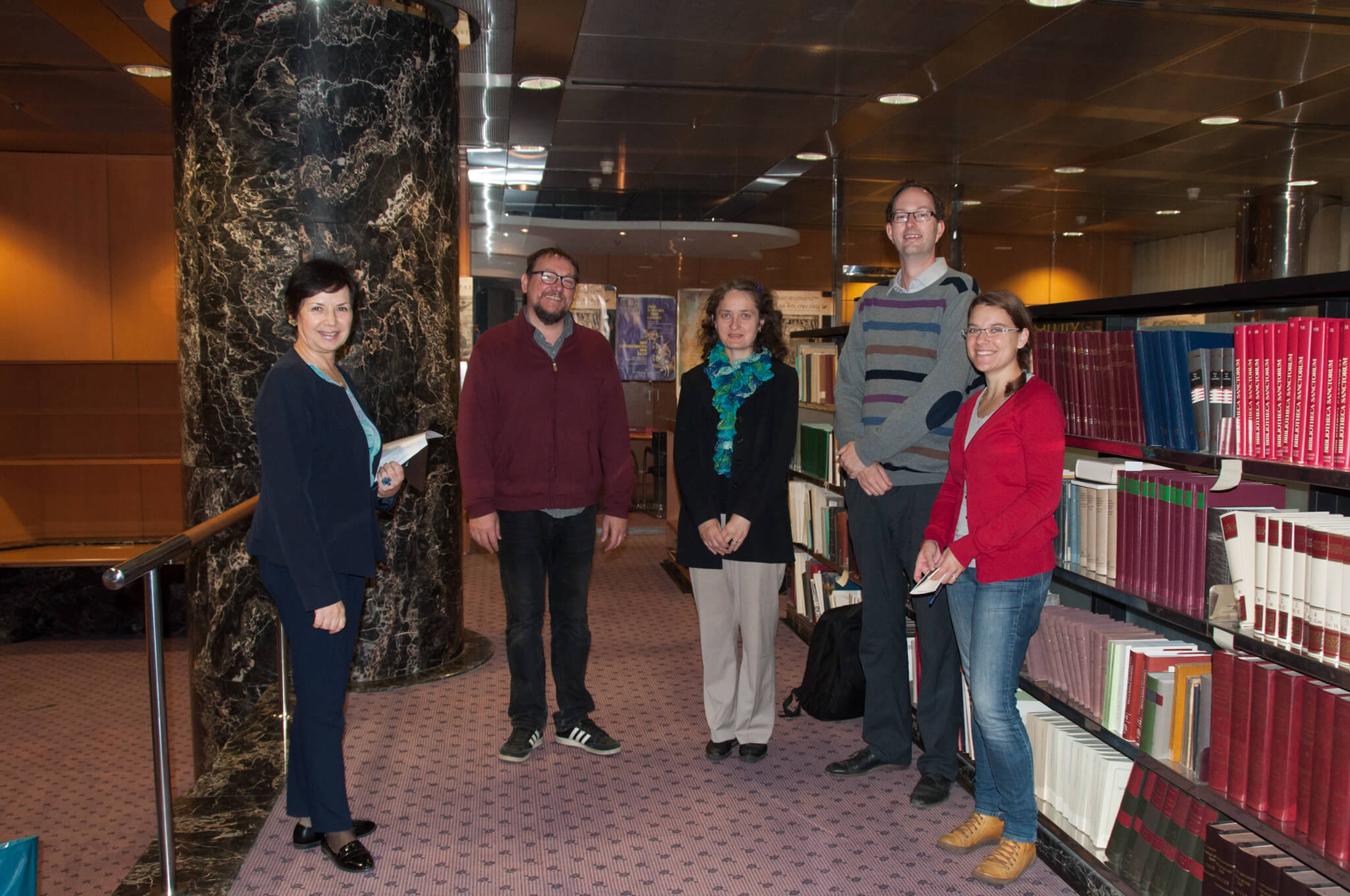 Representatives of the National Library of the Czech Republic at the NSK Manuscripts and Old Books Collection during their visit to the National and University Library in Zagreb (NSK).