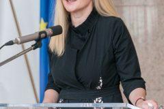 Spisateljica Vlasta Golub na završnoj svečanosti Nacionalnoga kviza za poticanje čitanja u Nacionalnoj i sveučilišnoj knjižnici u Zagrebu.
