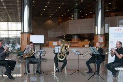 """Kvintet """"Simply Brass"""" na završnoj svečanosti Nacionalnoga kviza za poticanje čitanja u Nacionalnoj i sveučilišnoj knjižnici u Zagrebu."""