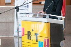Voditeljica Hrvatskoga centra za dječju knjigu Isabella Mauro na završnoj svečanosti Nacionalnoga kviza za poticanje čitanja u Nacionalnoj i sveučilišnoj knjižnici u Zagrebu.