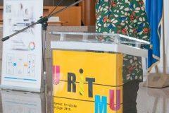 Spisateljica Jasminka Tihi-Stepanić na završnoj svečanosti Nacionalnoga kviza za poticanje čitanja u Nacionalnoj i sveučilišnoj knjižnici u Zagrebu.