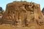 """Skulptura nadahnuta knjigom """"Šarlotina mreža"""" nastala 2014. na Izložbi pješčanih skulptura u tematskome parku """"Storyland"""" u Frankstonu u Australiji. Izvor: http://tinyurl.com/qd8b8ye."""