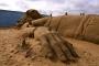 Pješčana skulptura Gullivera kojega su zarobili Lilliputanci nastala je u sklopu Festivala pješčanih skulptura u Weston Super Mareu u Engleskoj. Izvor: http://tinyurl.com/qd8b8ye.