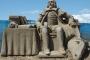 Pješčana skulptura Shakespearea nastala je na Festivalu pješčanih skulptura u Somersetu u Engleskoj 2010. Izvor: http://tinyurl.com/qd8b8ye.