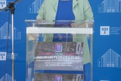 """Director General of the National and University Library in Zagreb Dr Ivanka Stričević at the opening of """"Solidarity in culture: Heritage protection under conditions of crisis"""", NSK 2021 international virtual conference. National and University Library in Zagreb, 18 March 2021."""