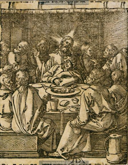 Dürer, Albrecht. Posljednja večera. Institut für Realienkunde, 1509. – 1511. Izvor: www.europeana.eu