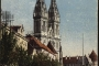 Stara razglednica Zagreba s motivom Katedrala Uznesenja Blažene Djevice Marije i svetih Stjepana i Ladislava na Kaptolu iz fonda Grafičke zbirke NSK iz 1921. godine.