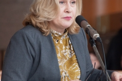Glavna ravnateljica Nacionalne i sveučilišne knjižnice u Zagrebu dr. sc. Tatijana Petrić na dodjeli Nagrade Anđelko Novaković za 2017. godinu.